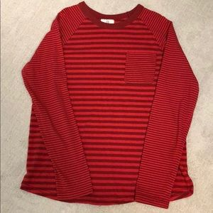 2/$18 Hanna Andersson Red Contrast Stripe Tee
